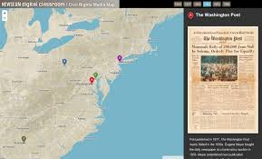 Civil Maps Newseum Launches Civil Rights Map U2013 Points Of Interest