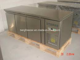 china stainless steel under counter refrigerator freezer china