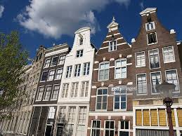 Rowhouses Tall Row Houses In Amsterdam Near Canal Stock Photo Getty Images