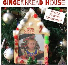 gingerbread house photo frame ornament teach me