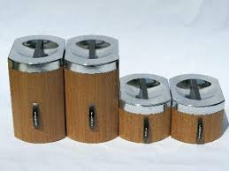 vintage kitchen canister sets vintage kitchen canisters set retro nesting kitchen canister set