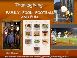 thanksgiving family food football and history channel