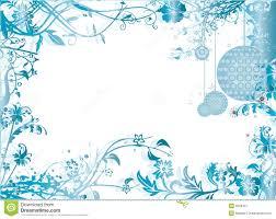 blue christmas frame pattern vector illustration stock image