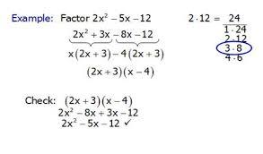 factoring trinomials in algebra