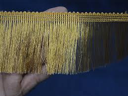 yard metallic gold fringe home decor indian trims gold fringe