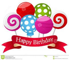 happy birthday ribbon happy birthday lollipop ribbon stock vector illustration of