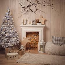 christmas backdrop allenjoy christmas backdrop fireplace tree wood wall warm