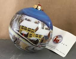chase inside art reverse painted glass christmas ornament