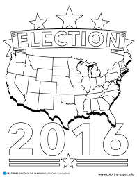 election 2016 america coloring pages printable