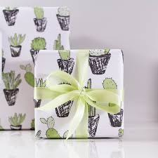 eco friendly wrapping paper cactus succulent eco friendly wrapping paper ltd
