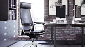 Ikea Office Chair Grey Interior Ikea Office Ideas With Black And Natural Wood Themed