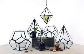 hanging terrarium diamond shape with chain h 8