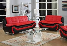 frady 2 pc black and red faux leather modern living room sofa and frady 2 pc black and red faux leather modern living room sofa and loveseat set walmart com