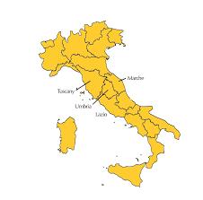 Tuscany Italy Map Central Italian Cuisine By Region