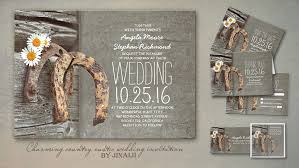 country wedding invitations country style wedding invitations horseshoe diy wedding 25072