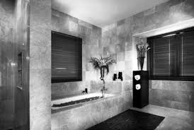 luxury master bathroom design with nice lighting and decor