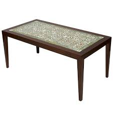 Cherry Wood Coffee Tables For Sale Rosewood Coffee Table With Royal Copenhagen Tiles For Sale At 1stdibs