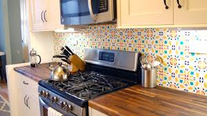 temporary kitchen backsplash install a rental removable custom kitchen backsplash