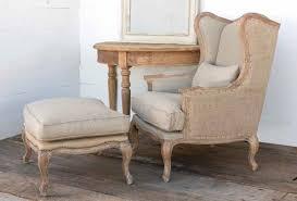 French Linen Armchair Chair Linen Grey Linen Chair Nailheads Corliss Weathered Oak