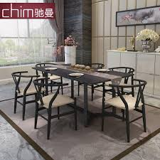 Dining Table And Six Chairs Dining Tables And Chairs Combination Of Modern Minimalist