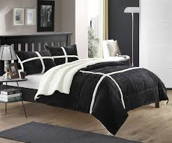X Long Twin Bedding Sets by Amazon Com Chic Home Chloe 7 Piece Sherpa Lined Plush Microsuede