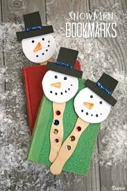 easy snowman crafts for kids foam bookmarks darice