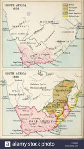 Map South Africa Map Of South Africa 1806 And 1860 Stock Photo Royalty Free Image