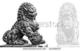 lion foo dog guardian lion foo fu dog guard stock photo 246776236
