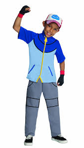 Halloween Costumes Party Boys Amazon Pokemon Child U0027s Deluxe Ash Costume Color Small