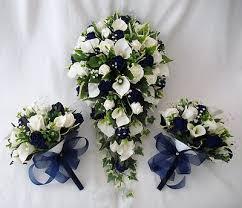 Wedding Flowers Blue Wedding Flowers Bouquets Brides Bouquet 2 Posies Cala Lilies