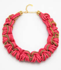 red collar necklace images Faux leather braided collar necklace set pink jpg