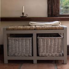 Bench With Baskets Storage Benches With Baskets 35 Amazing Design On White Storage