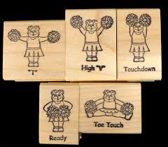 710 cheerbears preschool cheerleading hand stamps and matching