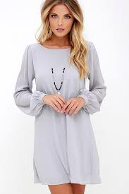 shift dress pretty light grey dress shift dress sleeve dress 42 00