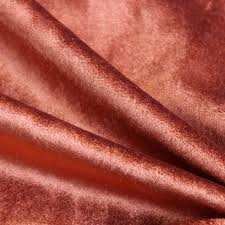 rust cotton velvet upholstery weight fabric commercial curtain