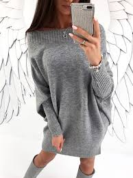 baggy sweaters stylish sleeve solid baggy sweater dress discover