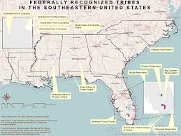 Southeastern United States Map by Southeast Climate Science Center Tribes U0026 Indigenous Peoples