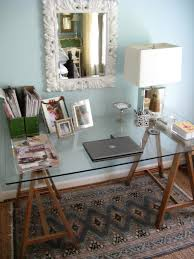 Ana White Sawhorse Desk Ana White Sawhorse Desk Diy Projects Intended For Glass Top