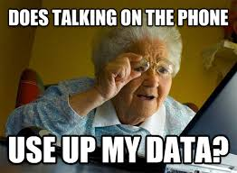 Talking On The Phone Meme - livememe com grandma finds the internet