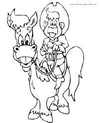 cowboy color coloring pages color plate coloring sheet