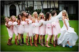 bridesmaid dresses with cowboy boots cowboy boots pink bridesmaids dresses and a stunning oh