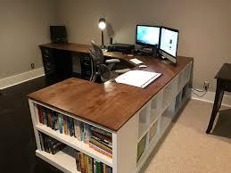 furniture long double desk diy wood desk plans diy home office