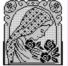 imagenes religiosas a crochet motivo religioso técnica filet para camino de mesa y cenefa