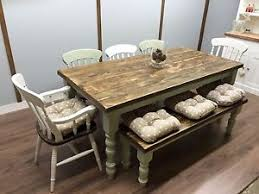 farmhouse table and chairs with bench farmhouse shabby chic rustic 6ft dining table chairs bench oak