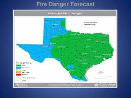 Texas Wildfire Danger Map by June 8 2017 U2013 Texas Thunder Radio