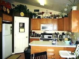 above kitchen cabinet decor ideas above kitchen cabinet decorative accents onewayfarms com