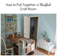 Craft Room Tables - how to pull together a thrifted craft room thrift diving blog