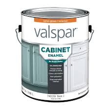 Lowes Kitchen Cabinets Sale Shop Valspar Cabinet Enamel Semi Gloss Latex Interior Paint