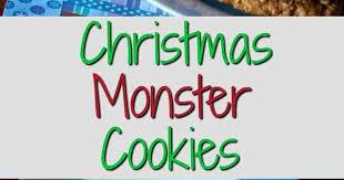 christmas monster cookies traditional christmas cookies easy