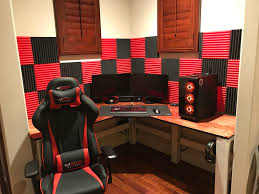 red black gaming setup album on imgur